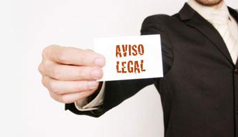 Aviso legal para empresas de servicios en madrid.